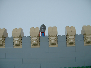 Castellation- Battlements used for a decorative purpose.